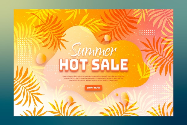End of season summer landing page template