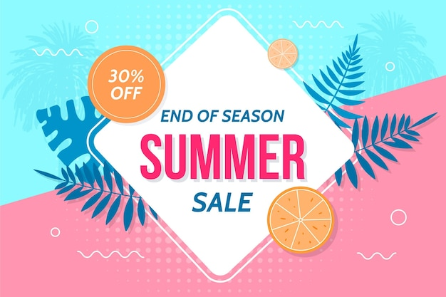 End of season summer sale background