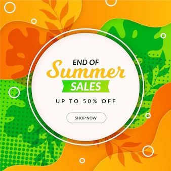 End of season summer sale banner