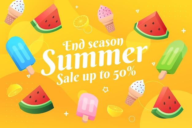 Concetto di vendita estiva di fine stagione
