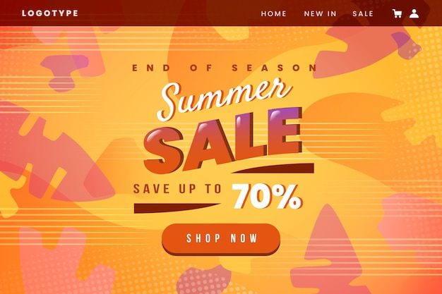End of season summer sale concept