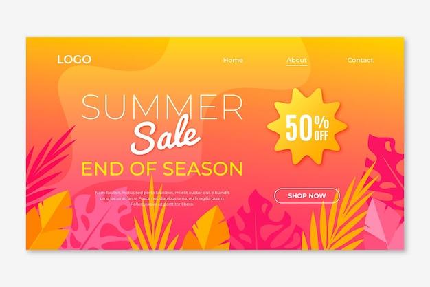 End of season summer sale end of season summer sale landing page