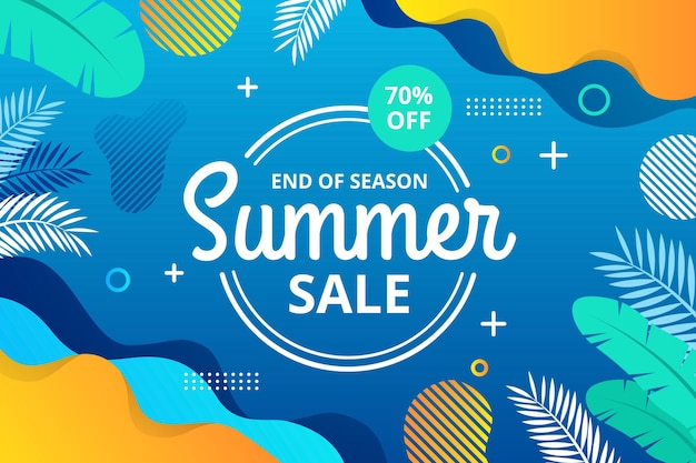 End of season summer sale horizontal banner