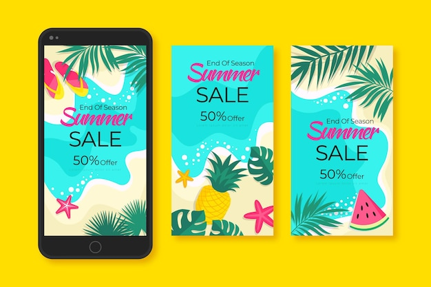End of season summer sale instagram stories collection