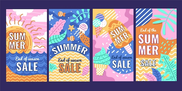 End of season summer sale instagram stories template
