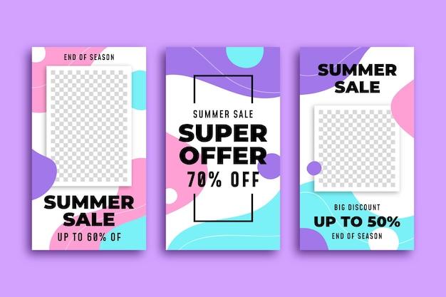 End of season summer sale instagram stories