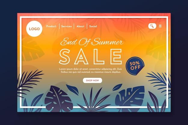 End of season summer sale landing page template