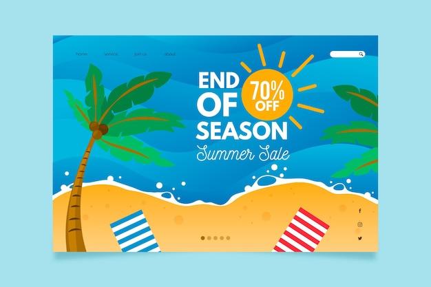 Modello di pagina di destinazione dei saldi estivi di fine stagione
