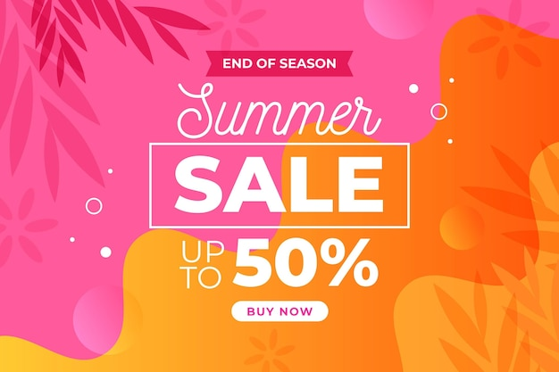 End of season summer sale landing page