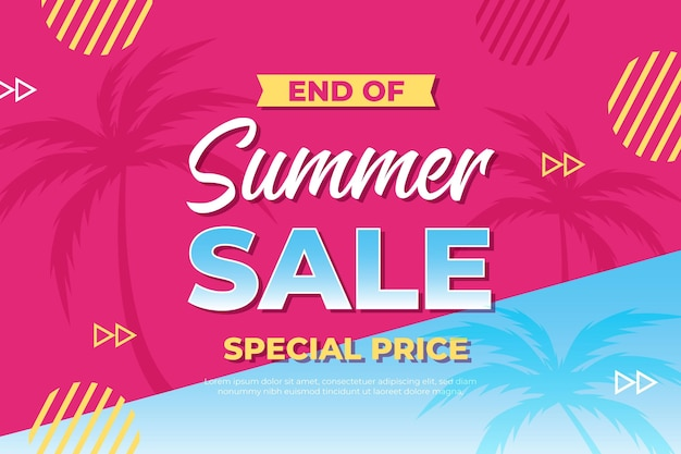 End of season summer sale - landing page
