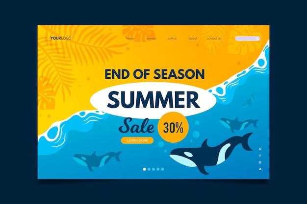 Pagina di destinazione dei saldi estivi di fine stagione