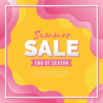 End of season summer sale squared banner