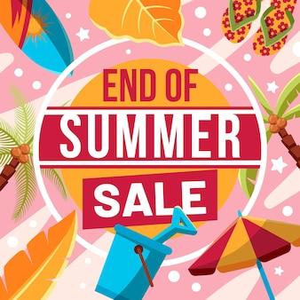 Banner quadrato di vendita estiva di fine stagione