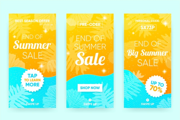 End of season summer sale template