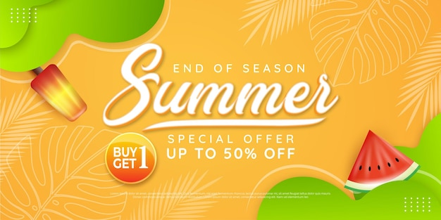 End of season summer sale theme special offer