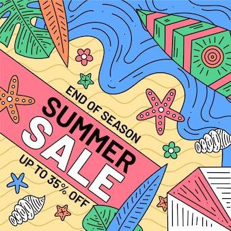 End of season summer sale theme