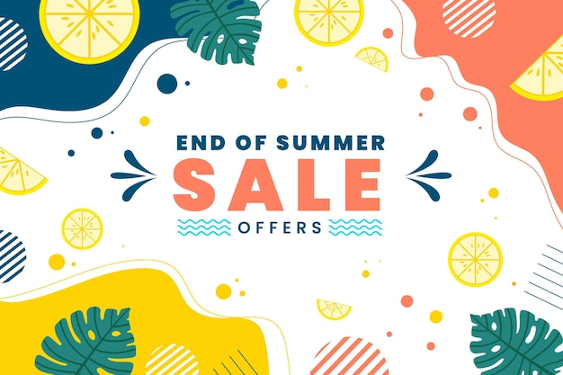 End of season summer sale Premium Vector