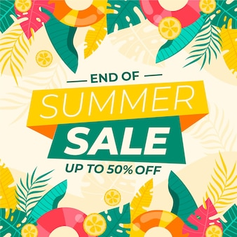 End of season summer sale