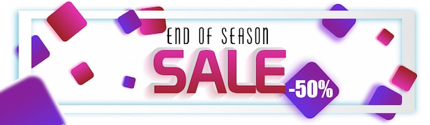 End of season website banner with 50% off offer.