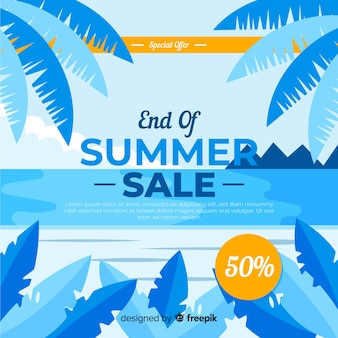 End of summer sale background