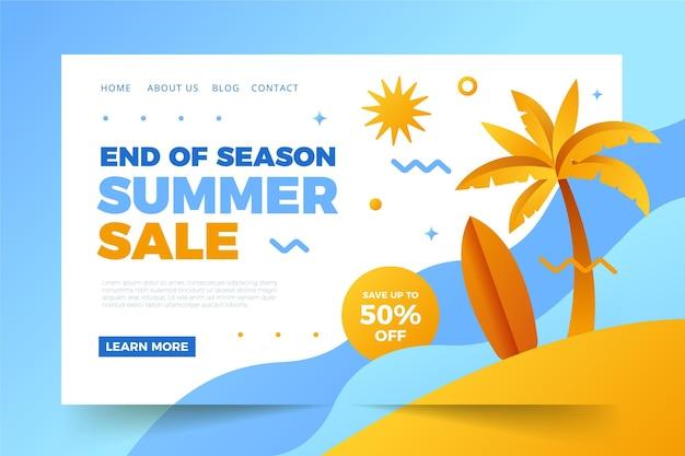 Pagina di destinazione della vendita di fine estate