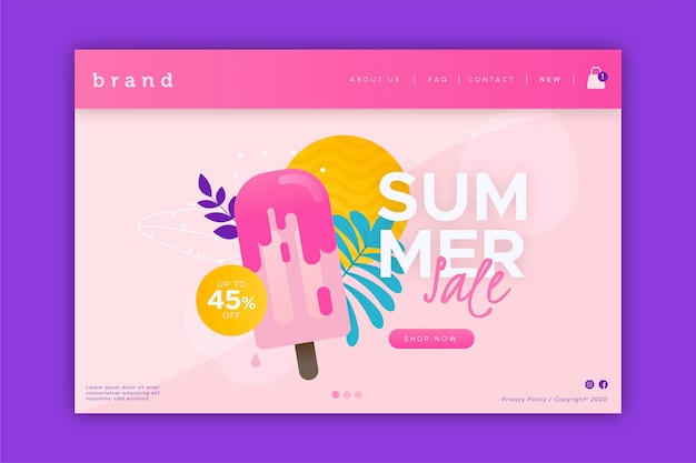 End of summer sale landing page