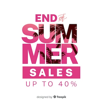 End of summer sales background