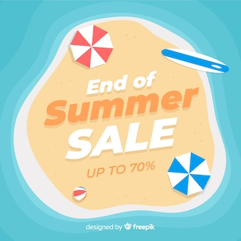 End of summer sales beach background