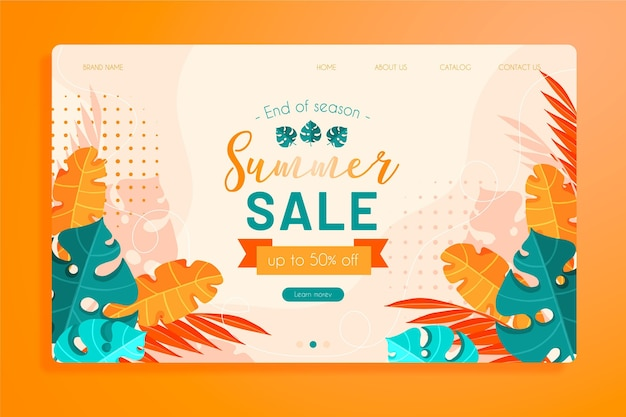 End of summer sales home page