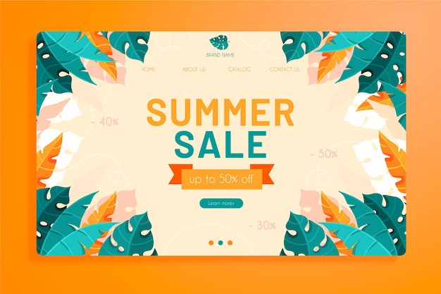 End of summer sales web page