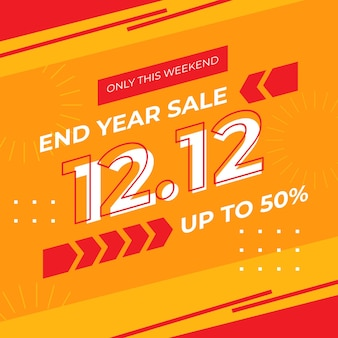 End year 12.12 sale banner template