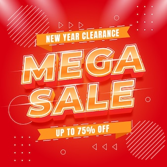 End year 1212 sale banner template
