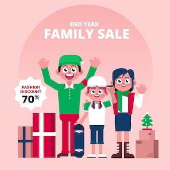 End year family sale character