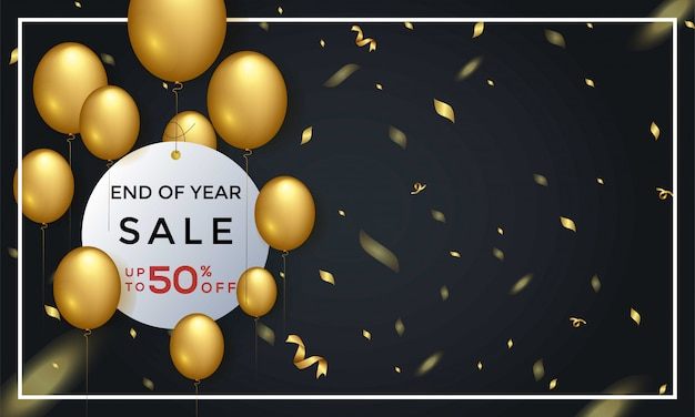 End of year sale 50% off background template