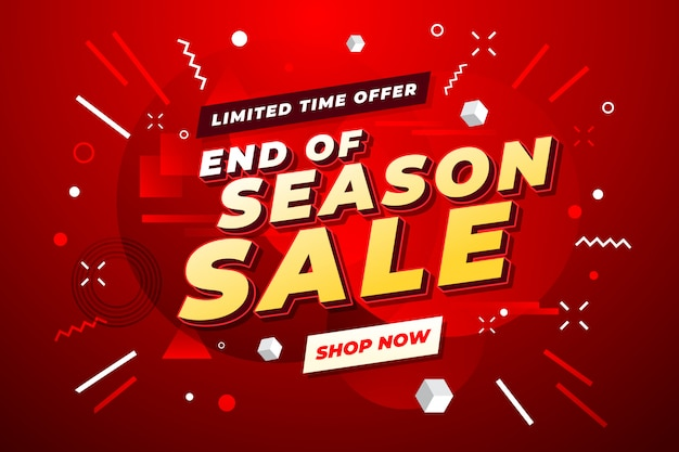 End of year sale banner.