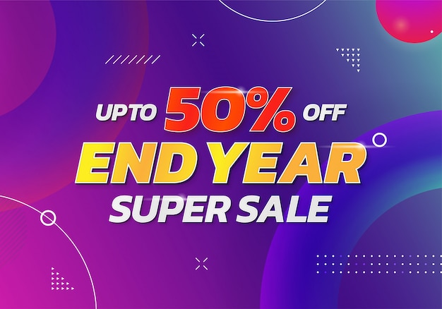End year super sale banner