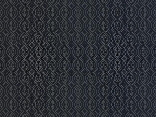 黒と金色の無限の抽象的な幾何学模様の背景。