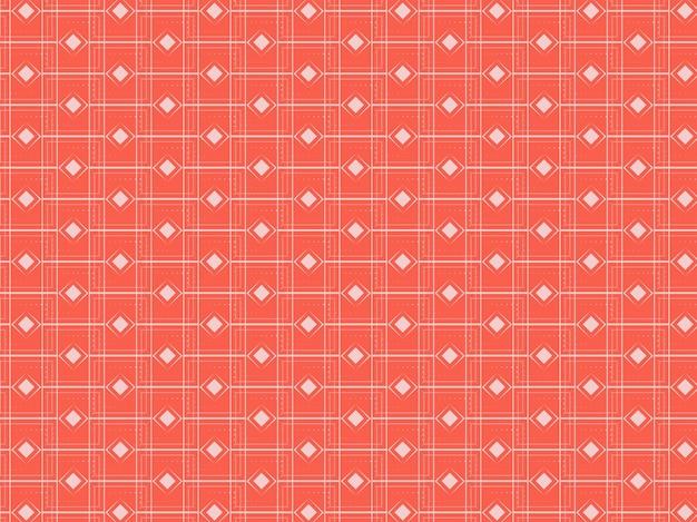 オレンジと白の色のエンドレスダイヤモンドスクエアパターンの背景。