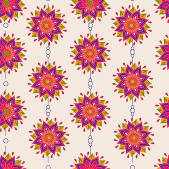 無限の花柄の背景。