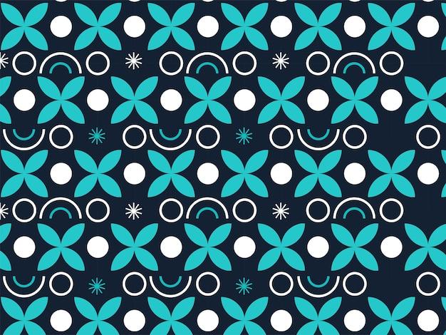 Бесконечный геометрический цветочный узор фона.