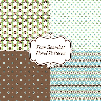 Endless modern seamless floral background for web page  wall papers  pattern fills and cards