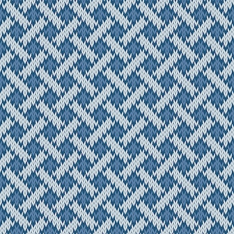 Endless seamless knitted woolen pattern based on the celtic knot