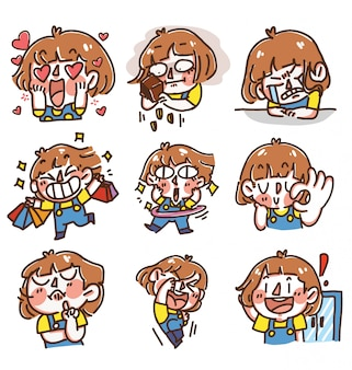 Energetic quirky girl expressive
