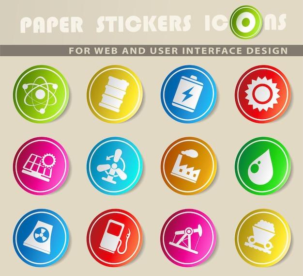에너지 및 산업은 웹 및 사용자 인터페이스에 대한 단순한 기호입니다.