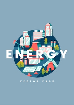 Energy concept in blue