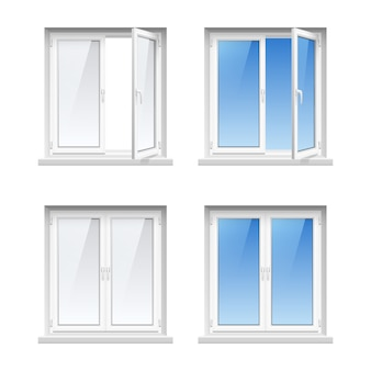 Energy cost saving easy to care plastic pvc window frames