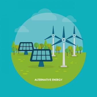 Energy design. illuistration