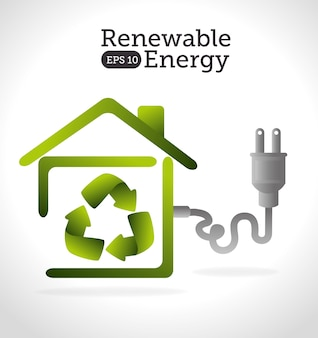 Energy design, vector illustration.