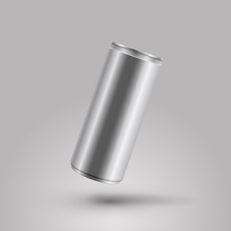 Energy drink can vector mockup illustration