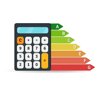 Energy efficiency rate graph with calculator